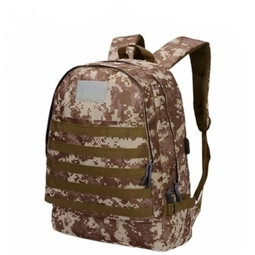 Battlegrounds Three-level Package High Capacity the Backpack 3D Camouflage Tactical USB Backpack