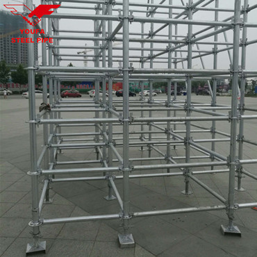 Adjustable Hot Dip Galvanized Cheap Ringlock Scaffolding With Powder Coated Telescopic Scaffold