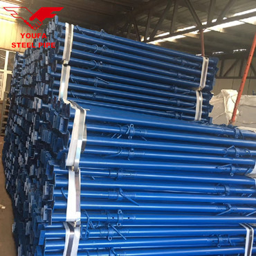Building types of adjustable steel column scaffold prop