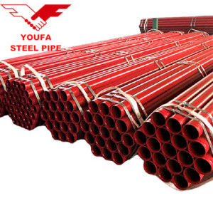 Welded steel pipe tube red painting for fire fighting system made by Youfa mill