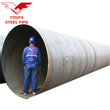 youfa factory Standard Spiral Steel tube Piling Pipes for Bridge / Port constructions