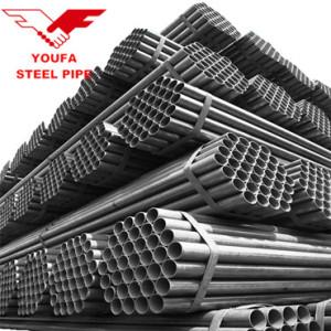 Mild Carbon Steel Straight ERW Welded Black Steel Round Pipe