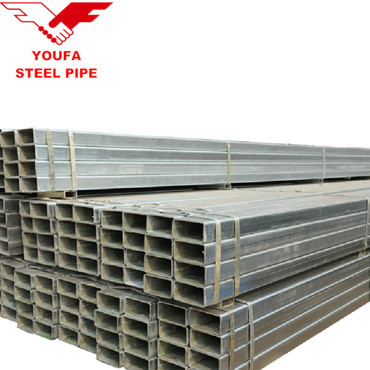 Youfa brand hollow section galvanized square and rectangular steel pipe and tube