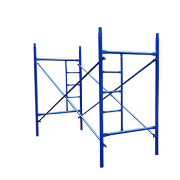 Thickness Powder Coated Q235 Steel Mason H Frame Scaffolding For Buildings Construction