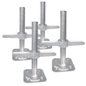 Galvanized scaffolding Screw Jack Adjustable Jack Base U Head Base Jack for Construction