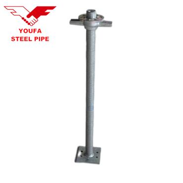 High quality adjustable U head jack base  ringlock galvanized scaffolding