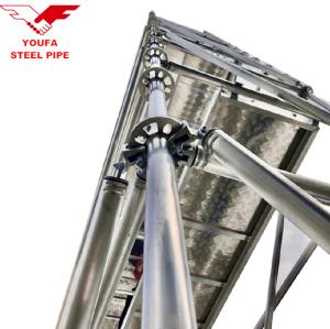 Cheap metal construction steel tube scaffold ringlock scaffolding
