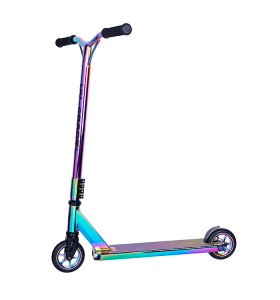 Dos ruedas de aleación Core Neo Chrome Surface Stunt Scooter