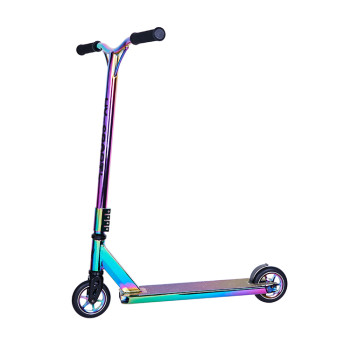 Two Alloy Core Wheels Neo Chrome Surface Stunt Scooter