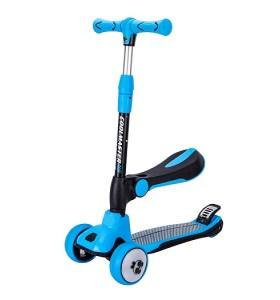 Colorido niño seguro asamblea niños sentados scooter kick scooter con 4 ruedas de luz led de la rueda