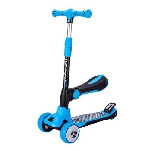 Les enfants de l'assemblage sûr pour enfants colorés ont assis le scooter de coup de pied de scooter avec la lumière menée par 4 roues d'unité centrale