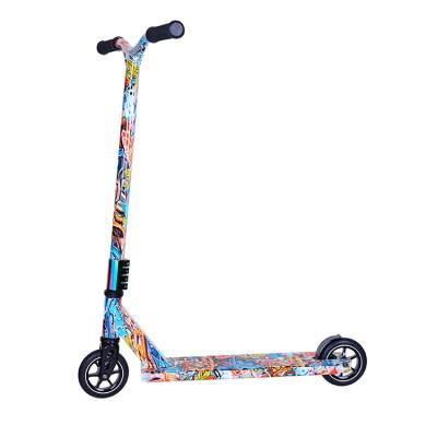 낙서 본을 가진 상한 360 자유형 Y 모양 자전거 핸들 6061 알루미늄 간계 스쿠터