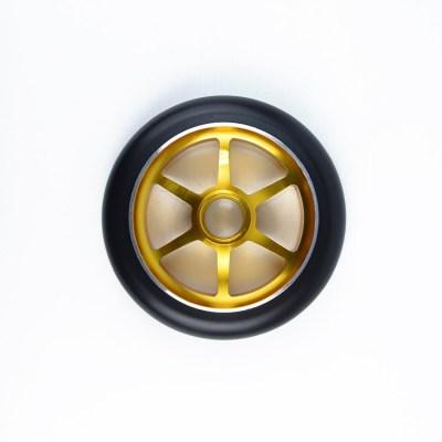 Roues de scooter de noyau d'alliage avec la taille de diamètre de 120mm pour les scooters adultes de cascade de 2 roues professionnelles