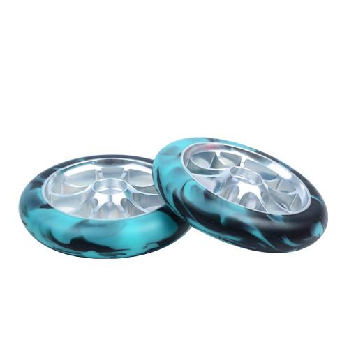 혼합 색깔 2 개의 바퀴 성숙한 곡예 스쿠터를위한 합금 중핵을 가진 120 mm 스쿠터 바퀴