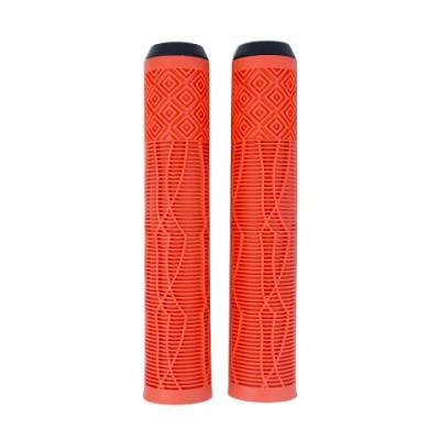 Cheap customized solid color TPR rubber handlebar handgrips for kick stunt scooter