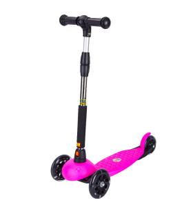 Scooter para niños de estilo básico reforzado de 3 ruedas con manillar extraíble