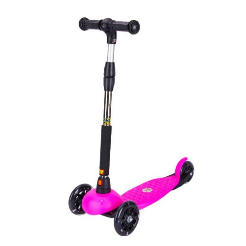 Scooter de coup-de-pied renforcé d'enfants de style de base 3 roues avec le guidon amovible