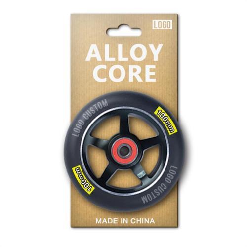 개인적인 카드 포장을 가진 높은 정밀도 100mm 합금 시리즈 직업적인 곡예 스쿠터 바퀴