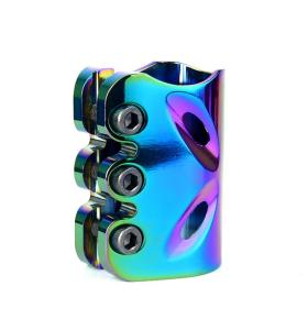 Factory Price CNC Neo Chrome Pro Stunt Scooter Clamp with 3 bolts