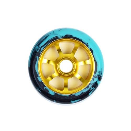 Roues en PU de 110 mm avec noyau en alliage pour scooters professionnels
