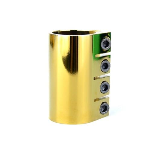 직업적인 곡예 스쿠터를위한 전기 도금을 한 CNC 6061 알루미늄 황금 4 개의 구멍 죔쇠