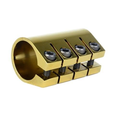 Pinces à 4 trous en aluminium doré CNC 6061 galvanisé pour scooter professionnel