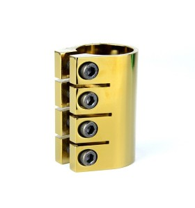 Electroplated CNC 6061 aluminum golden 4 holes clamps for pro stunt scooter