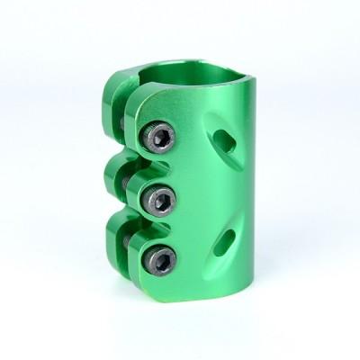 Surface d'anodisation CNC 6061 pince 3 trous en aluminium pour scooters professionnels