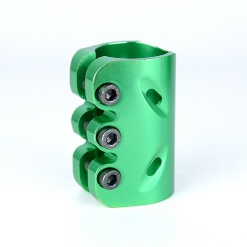 직업적인 곡예 스쿠터를위한 양극 처리 표면 CNC 6061 알루미늄 3 구멍 죔쇠