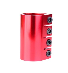 Anodizing Red Color CNC 6061 T6 Aluminum Pro Stunt Scooter Clamp with 4 bolts for Scooter