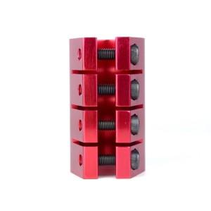 스쿠터를위한 4 개의 놀이쇠를 가진 양극 처리 빨간색 CNC 6061 T6 알루미늄 직업적인 스턴트 스쿠터 죔쇠