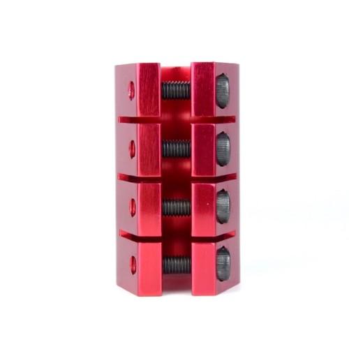 Anodisation Rouge Couleur CNC 6061 T6 Aluminium Pro Stunt Scooter Pince avec 4 boulons pour Scooter