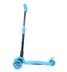 Certificado CE Nuevo diseño de fábrica plegable seguro para niños scooter con 3 ruedas de flash para niños