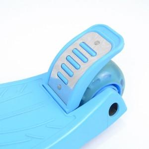 CE 인증서 공장 새로운 디자인 접이식 안전 아이 킥 스쿠터 3 플래시 바퀴