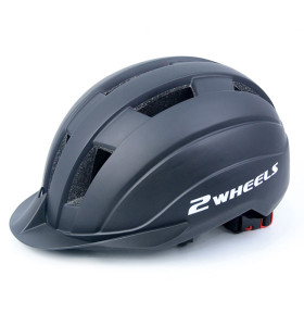 One-piece riding scooter helmet with bluetooth headset and warning light for teens and adults