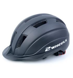 Casque de scooter monobloc avec casque Bluetooth et voyant d'avertissement pour adolescents et adultes
