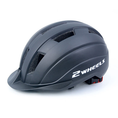 Casco de scooter de una pieza con auriculares bluetooth y luz de advertencia para adolescentes y adultos.