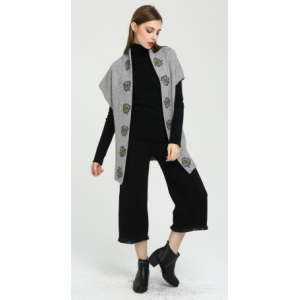 neues Design Frauen 100% reine Kaschmir-Strickjacke mit Handstickerei