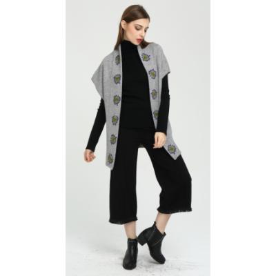 Cárdigan de cachemir 100% puro de nuevo diseño para mujer con bordado a mano