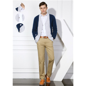 neue Mode 100% reine Kaschmir Herren Strickjacke mit mehreren Farben