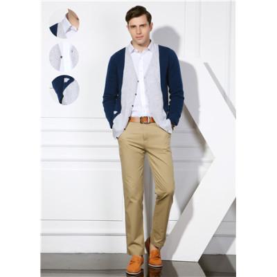 nueva moda 100% puro cachemir hombres cardigan con múltiples colores