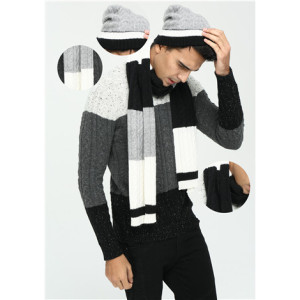 neues Design 100% reiner Kaschmir-Strickschal für Herren
