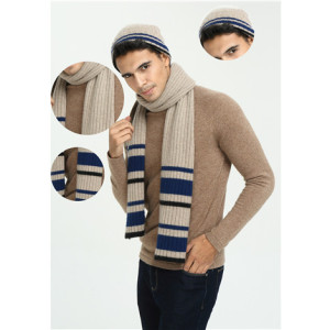 OEM factory new latest fashion design luxury 100% pure cashmere scarf for men wholesale