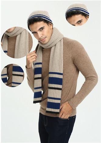 nouveau dernier design de mode de luxe 100% pure écharpe en cachemire pour hommes