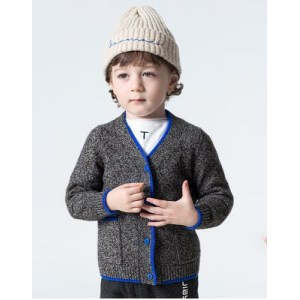 wholesale boy cashmere cardigan sweater in multi colors with pockets China vendor