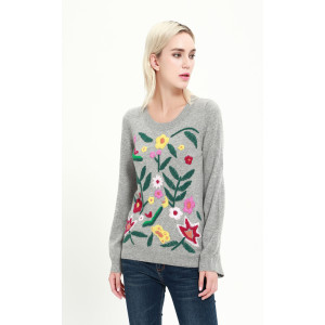 ODM service wholesale high quality cashmere women sweater with cheap price