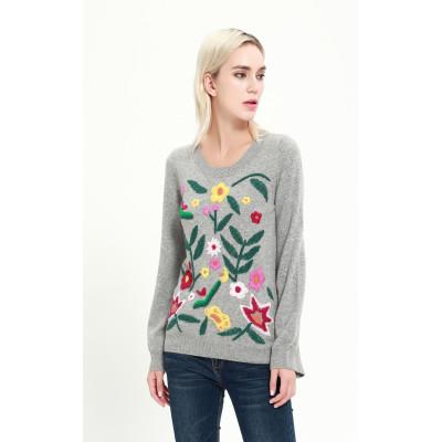 nuevo diseño de pura cachemira suéter de mujer para el invierno