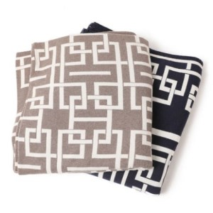 wholesale intarsia Oversize Double face light Anti-Pilling lounge wool cashmere throw blankets