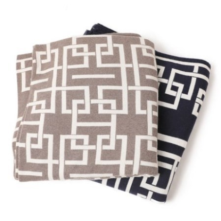 Pure cashmere blanket with Jacquard Pattern