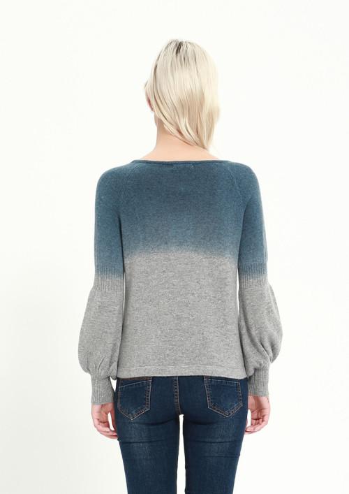 suéter de mujer de cachemir puro de nueva moda con estampado de tinte